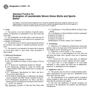 ASTM D 4231 – 01 pdf free download